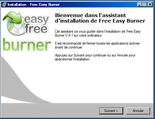 Free Easy CD DVD Burner
